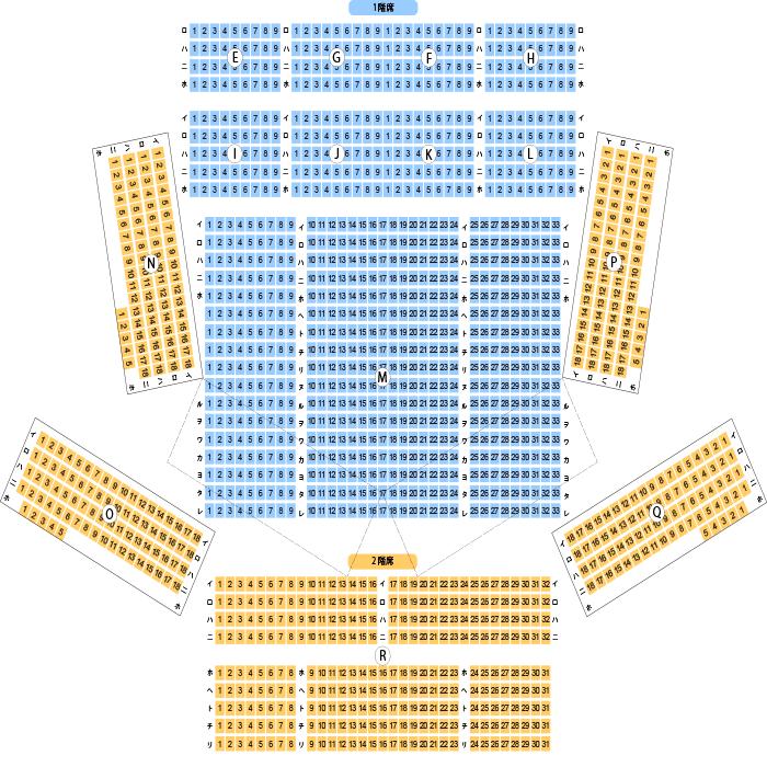 「なら100年会館大ホール 座席表」の画像検索結果