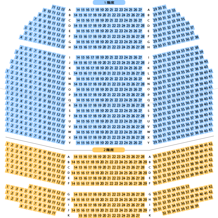 赤坂actシアター 劇場座席表 1 324人 mdata