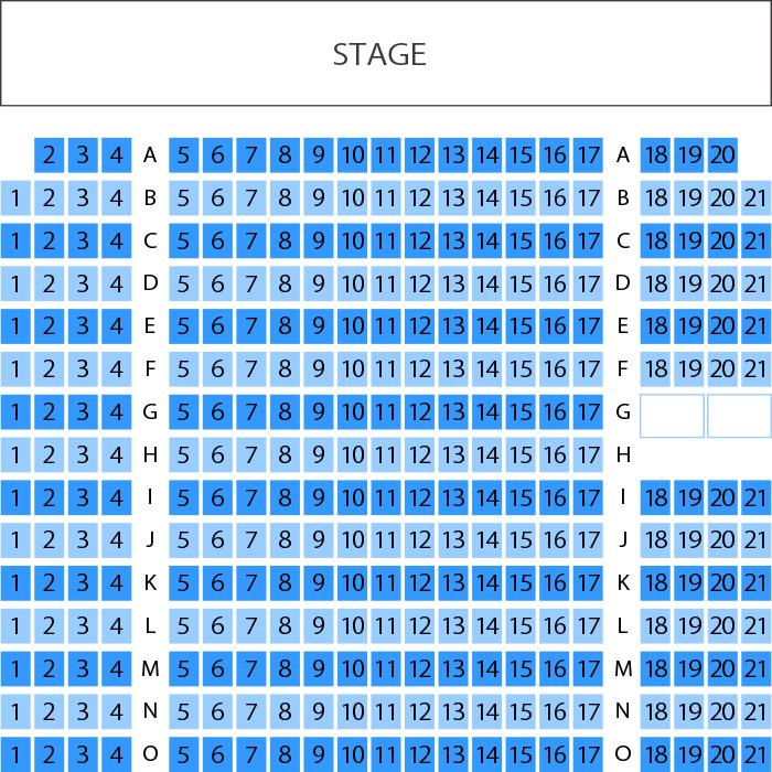 よしもと漫才劇場 劇場座席表(3...