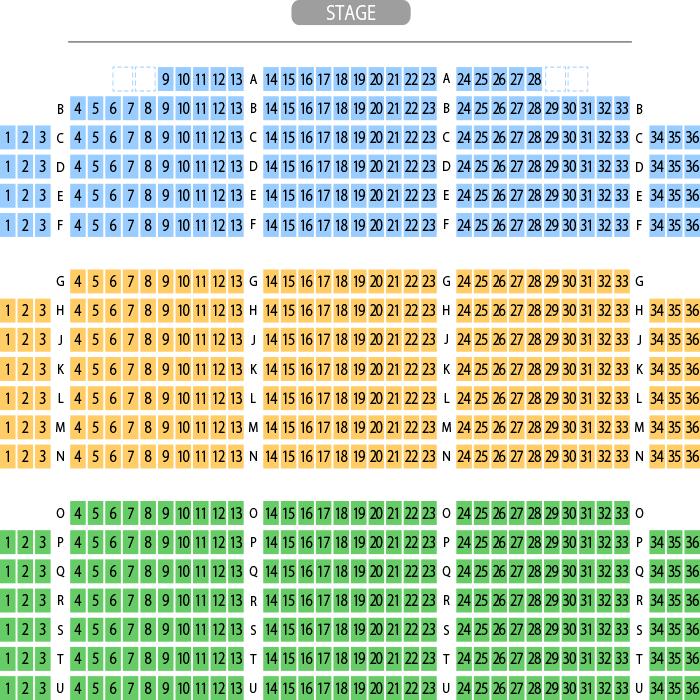 よしもと西梅田劇場 劇場座席表(700人)- MDATA