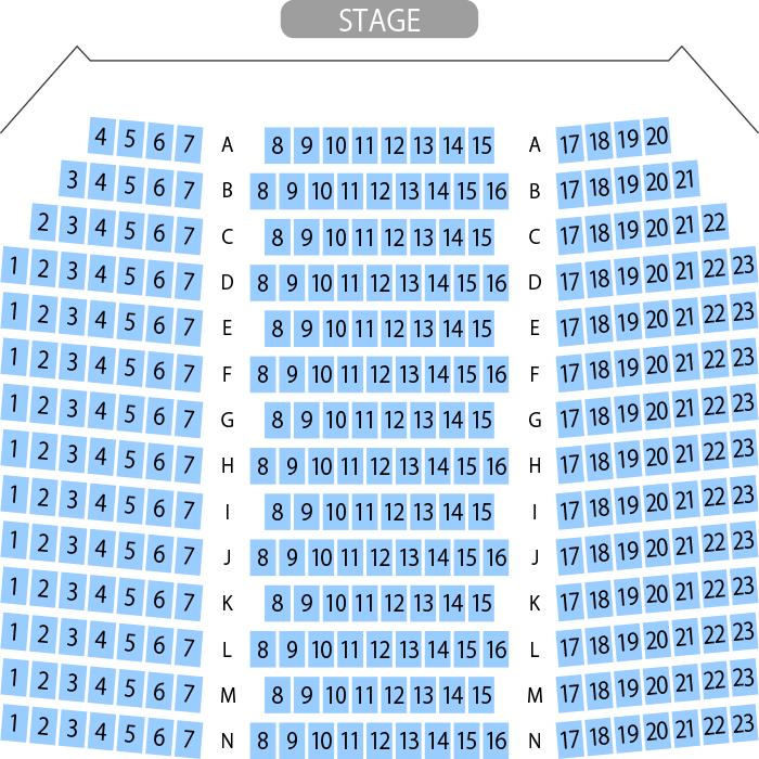 西荻地域区民センター ホール座席表(366人)- MDATA