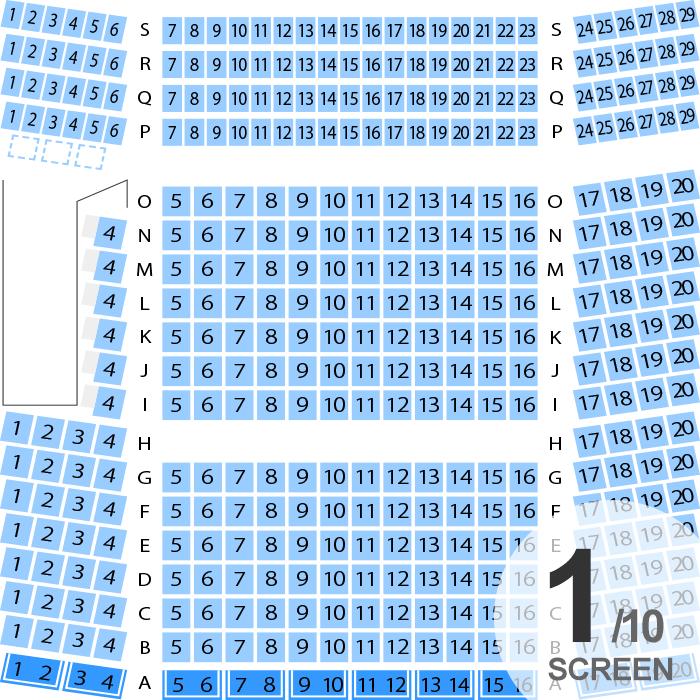 ユナイテッド シネマ新潟 スクリーン座席表 382人 Mdata