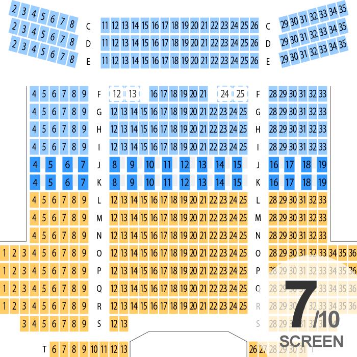 109シネマズ川崎 シアター座席表 458人 Mdata