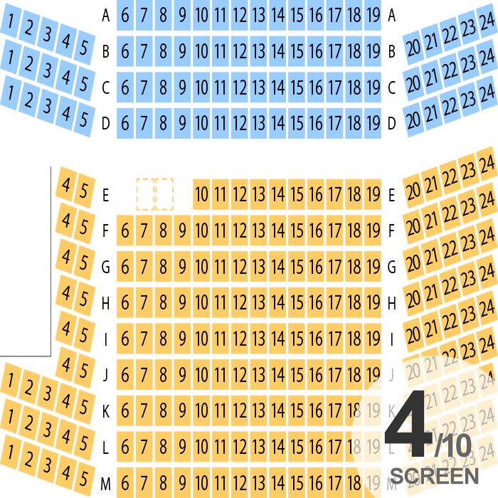イオンシネマ高崎 スクリーン座席表 282人 Mdata