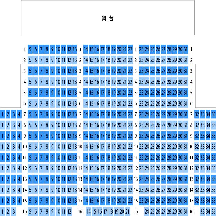 大 中野 座席 zero ホール
