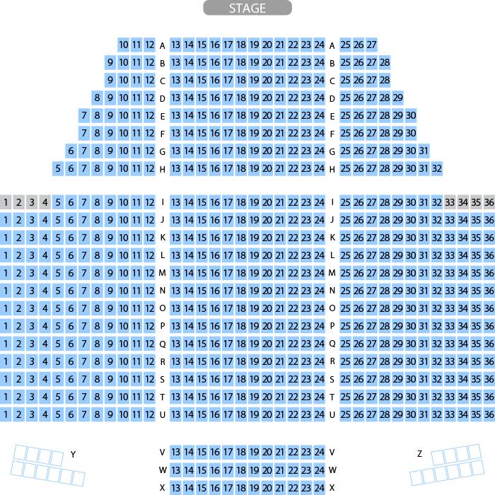 スワニー 六ヶ所村文化交流プラザ 大ホール座席表(706人), MDATA