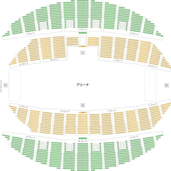 「東京体育館 座席表」の画像検索結果